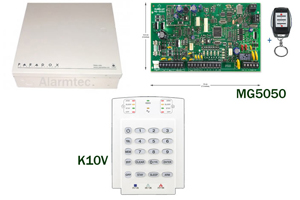 Paradox MG5050 alarm kit with K636 LED keypad Kit